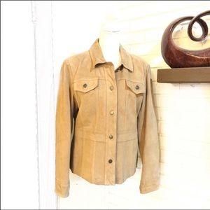 Style & Co Faix Suede Jacket, Size M